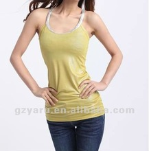 camisole tops 100 cotton short satin seamless white
