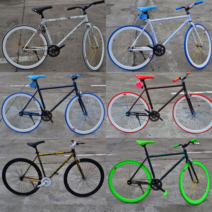 700C colorful fixie fixed gear <strong>bike</strong> single speed fixie <strong>bikes</strong>