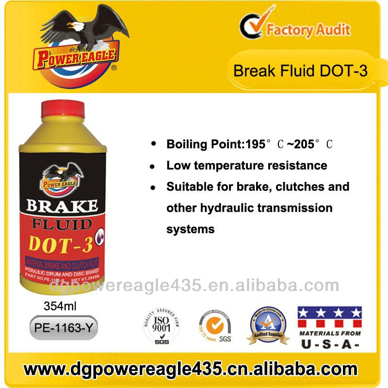 PE 354ml Plastic Bottle Red Brake Fluid