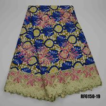 High Quality Embroidery Switzerland Cotton african java wax printed fabric Wax Lace Fabric African Ankara For Dress 6yards