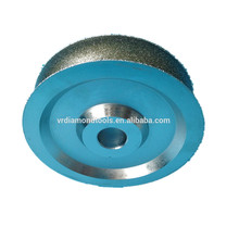 Special designed for high quality diamond electroplated concave grinding wheel & cutting wheel for stone