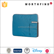 China wholesale merchandies soft fabric laptop sleeve with compartments
