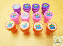 Lovely wooden rubber toy stamps/Self-ink plastic children toy Stamp
