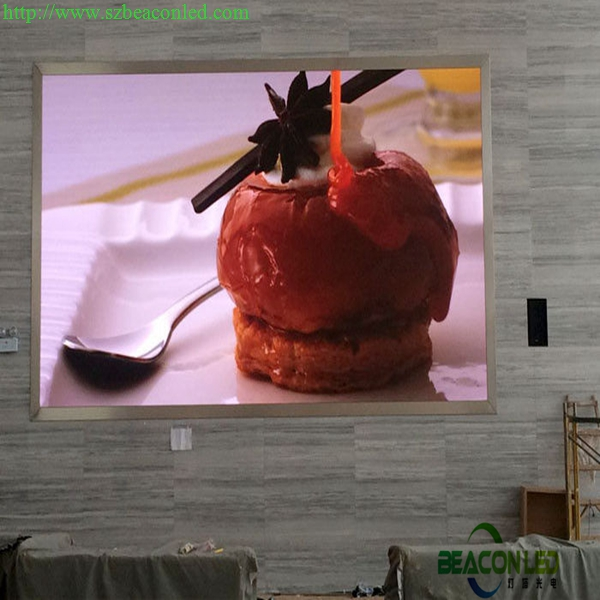 Indoor LED video wall for meeting high definition
