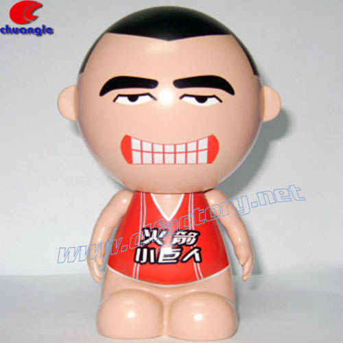 Basketball Player Yao Ming Cartoon Figure, Plastic Promotional Collection,Resin Statue Yao Ming