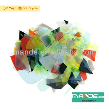 wholesale microwave kiln fused confetti glass for glass charm & pendants 2016 Christmas glass accessories