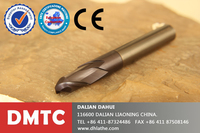 AlTiN Coated / Round Dowel End Mill / Ball Nose / Long Handle