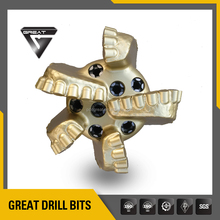 9-7/8' 5 blades down hole pdc drill bit for oil drilling tool