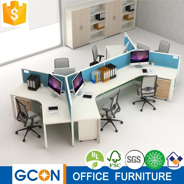 2015 New office cubicle workstation for 6 persons 120 top desgin