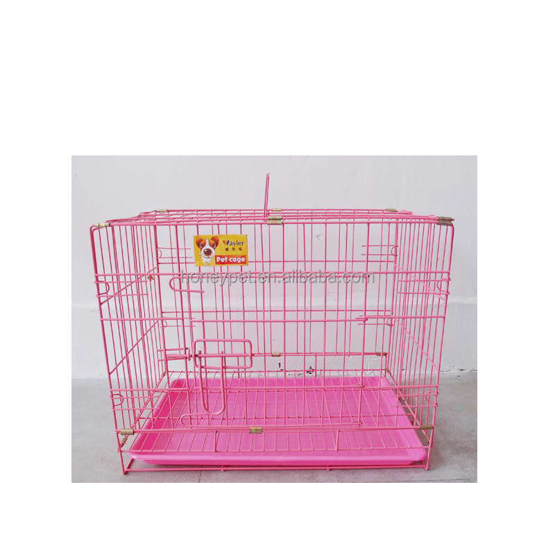 Cheap 2 Doors Training Small Folding Wire mesh Dog Puppy welded wire dog kennels for sale