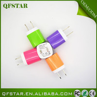 2015 new product 1000ma mini micro usb colorful universal travel adapter
