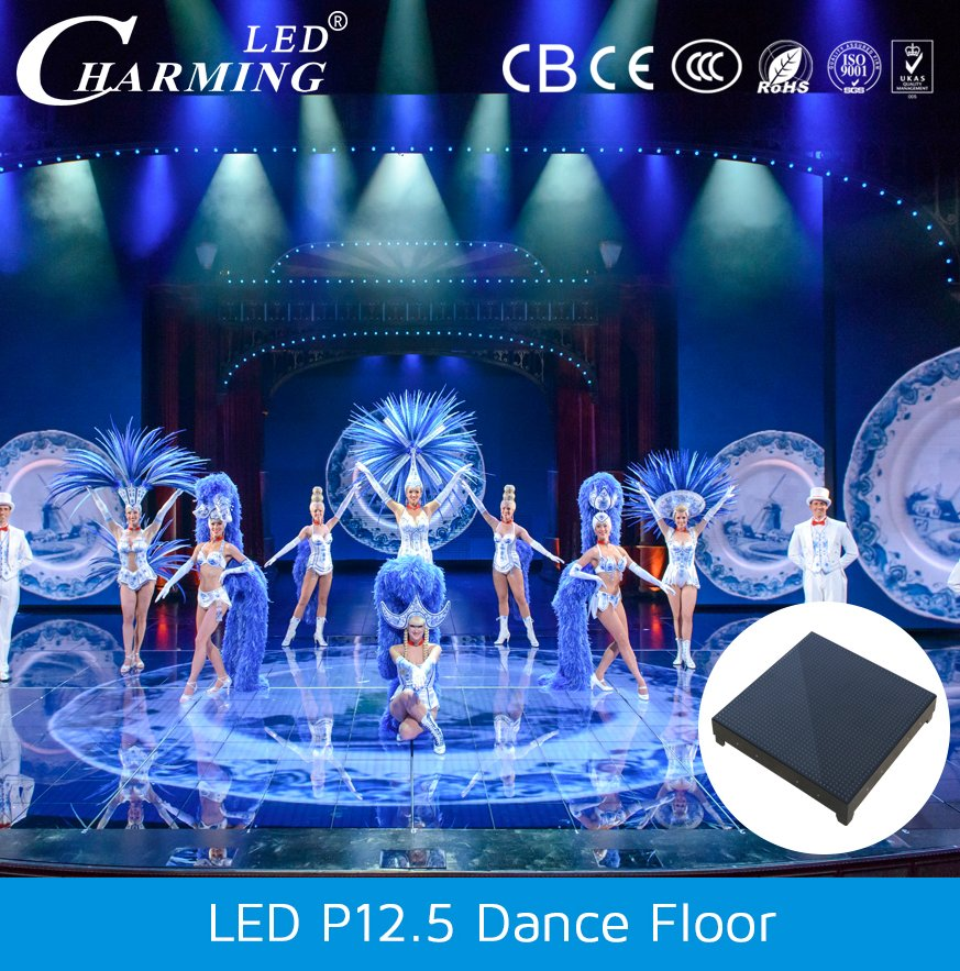 manufacturer portable led video dance floor for stage,tv show,car exhibition