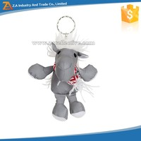 Very Cute Hippo Shape Wholesale Reflective Customized Key Chains with Metal Ring