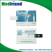 Card shaped USB Driver for Medical Promotion