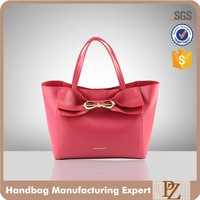 5072 2016 new best selling knot decorative fuchsia color lady wholesale tote handbag designer hand bags