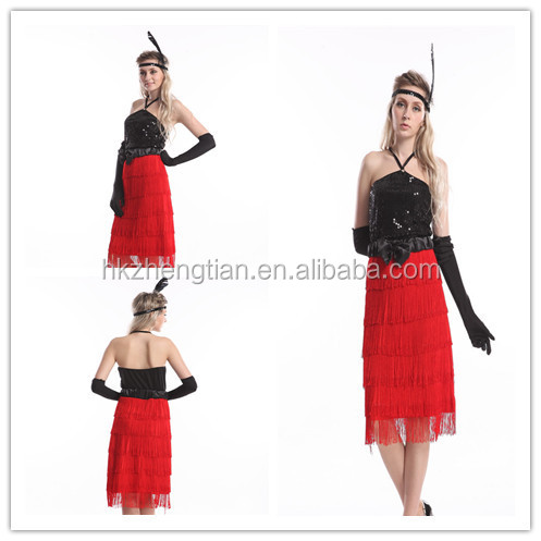 S-2XL Plus size instyles zhengtian halloween 1920s gatsby dress