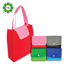 Guangzhou supplier pictures printing non woven collapsible nylon foldable shopping bag