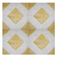 yellow and white Mosaic pattern marble tiles 60*60cm or cut according to your needs