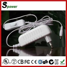 Black/White 12V 1.5A Power Supply 18W for digital photo frame/mobile phone/POS/Security Cameras