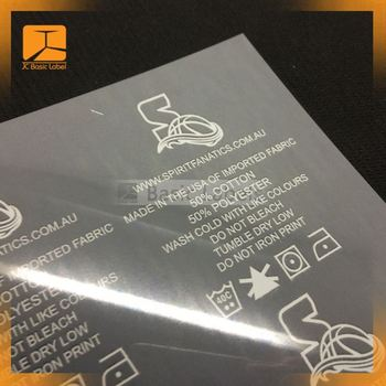 garment heat transfer label printing service from QINGYI