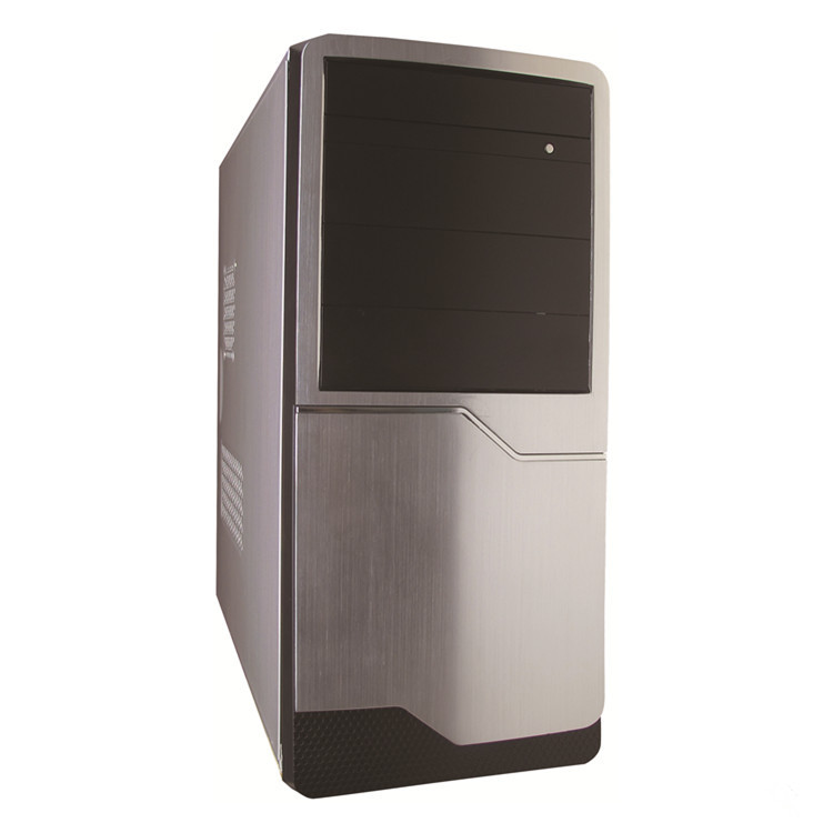 Shinning panel ATX case with LCD temperature Display gaming computer cases