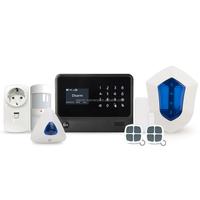 3G wireless alarm system work with smoke detector home alarm system work with wireless wifi camera