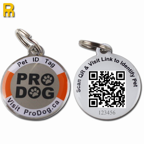 2014 fashional aluminum slide-on collar pet id tag contact with credit.mary for promotion