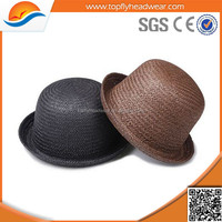 cheap panama straw hat/promotion plain straw boater hat wholesale