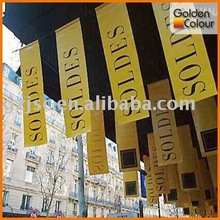 2012 HOT sale polyester decoration hanging fabric banner printing service