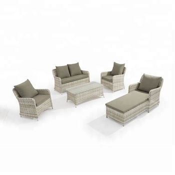 Foshan Supplier Customized Rattan Corner Garden Sofa Sets Outdoor