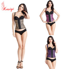 Leopard Print Latex Vest Corsets Wholesale In Stock Sexy Latex Waist Trainer