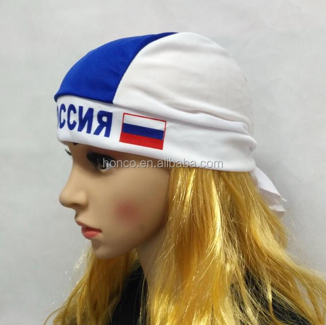 WM 2018 russia pirate hat russian bandana coif