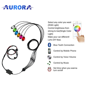 Aurora 6pcs kits IP68 waterproof super bright RGB rock light for all cars