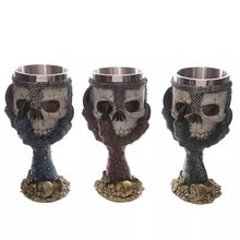 Juze Skull Heads Shape Promotional Gifts Halloween 3D Stainless Steel Coffee Mug