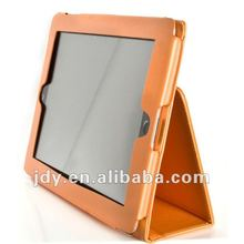 PU Leather Style cover Case with Stand New iPad 3 - Orange