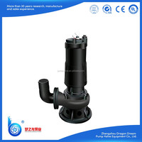WQ no clogging anti wear sewage vertical pump,large solid dirty water pump