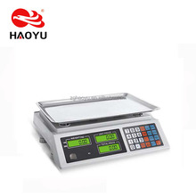 HAOYU 918 hot sale 40kg electronic price computing scale digital weighing scale with RS232