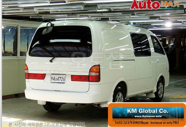 2003Year Aug Kia Pregio 6Seats Pannel Van Manual White Color