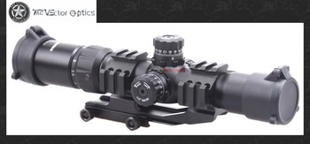 Vector Optics Mustang 1.5-4x30 Tactical Long Eye Relief Rifle Scope Chevron Reticle Sight with Cantilever Mount Ring