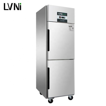 LVNI 2 door 500L hotel restaurant kitchen upright commercial freezer cabinet