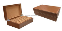 Genuine leather 12 slot watch display storage box GC02-ZP-12T