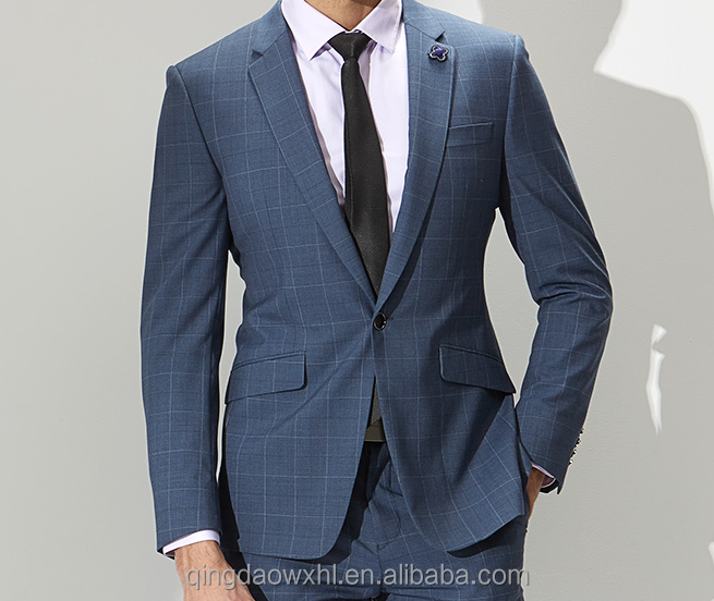 2017 New Pattern Comfortable Wholesale Customized Informal Slim Fit man suit