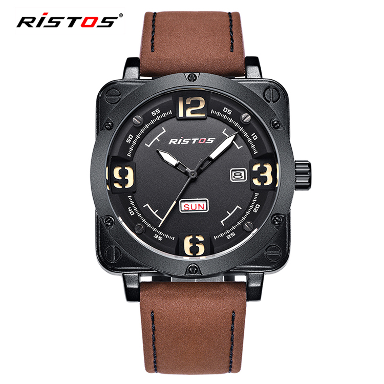 RISTOS 9320 luxury brand watch low MOQ watches stock price sport wholesale watches men