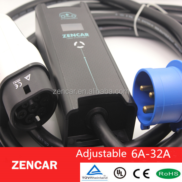 Accept product customized32 amp mode 2 32 amp type 2 ev plug evse with CEE plug