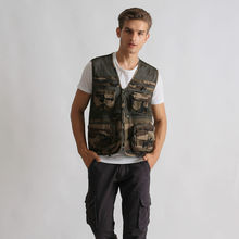 Camo Multi Pockets Fishing Hunting Mesh Vest Mens Outdoor vest
