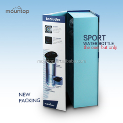 2015 Hot Nutrition (mountop)custom Tritan Translucent Black Water Bottle with Straw SOS Function
