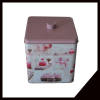 Colorful Elegant And Small Cookie Tin Box Storage Box For Food