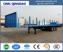 CIMC 3pcs axle 60ton timber trailer for africa market