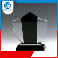 Jingyage ISO 9001 Factory free sample winner crystal trophy black base for sports