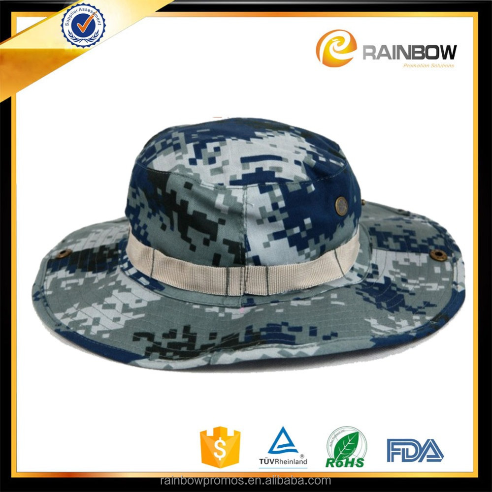 Sunscreen Camo military boonie hat fishing bucket hat for men